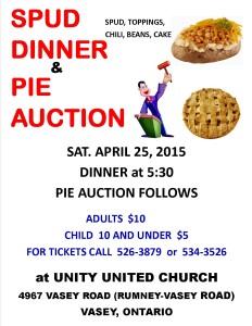 Spud Dinner Pie 2015